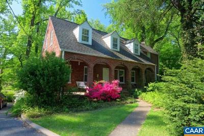 Charlottesville Single Family Home For Sale: 528 Valley Rd