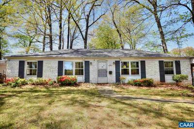 Charlottesville Single Family Home For Sale: 1603 Trailridge Rd