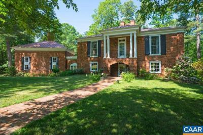 Earlysville Single Family Home For Sale: 4750 Pelham Rd