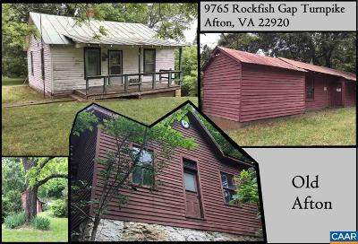 Single Family Home For Sale: 9765 Rockfish Gap Tpke