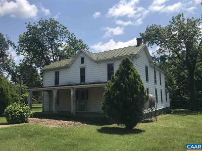 Nelson County Single Family Home For Sale: 2884 Rockfish Valley Hwy
