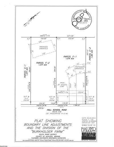 Waynesboro Lots & Land For Sale: F2 Hall School Rd