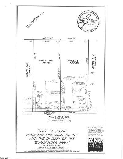 Waynesboro Lots & Land For Sale: E1 Hall School Rd