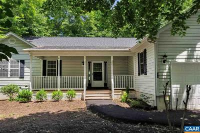 Fluvanna County Single Family Home For Sale: 39 Jennings Dr
