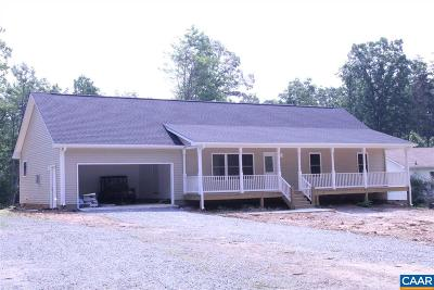 Albemarle County Single Family Home For Sale: 567 Half Mile Branch Rd