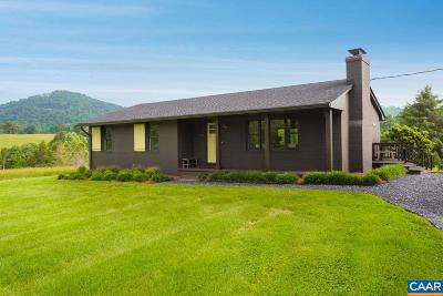 Nelson County Single Family Home For Sale: 816 Ennis Mountain Rd