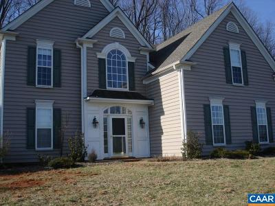 Charlottesville Single Family Home For Sale: 1348 Singleton Ln