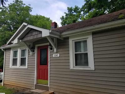 Staunton VA Single Family Home For Sale: $139,500