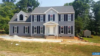 Fluvanna County Single Family Home For Sale: Lot 64 Indigo Ln