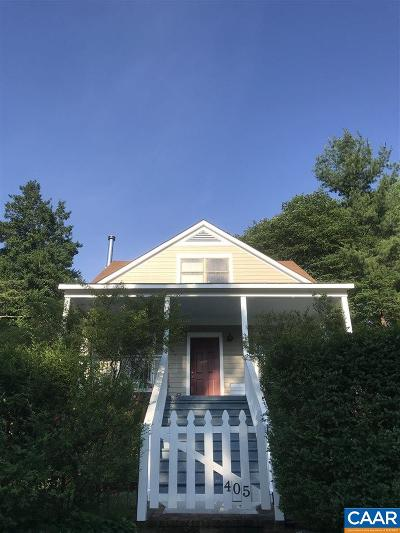Charlottesville Single Family Home For Sale: 405 Spring St