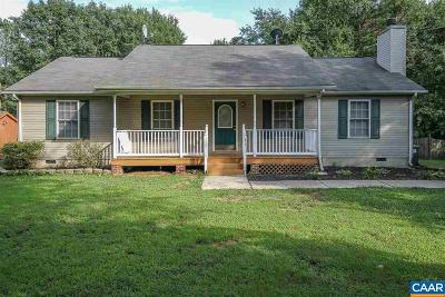 Fluvanna County Single Family Home For Sale: 31 Monish Dr