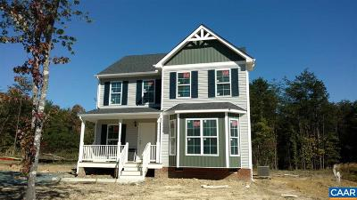 Fluvanna County Single Family Home For Sale: 121 Trillium Ln #Lot 44
