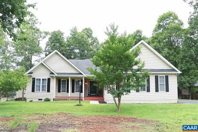 Fluvanna County Single Family Home For Sale: 21 Xebec Rd