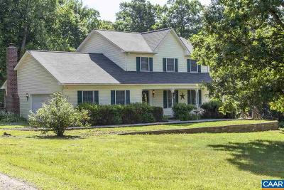 Scottsville VA Single Family Home For Sale: $324,000