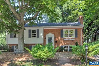 Charlottesville Single Family Home For Sale: 1027 Cottonwood Rd