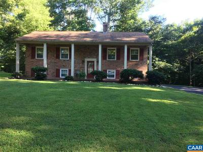 Charlottesville Single Family Home For Sale: 4012 Tompkins Dr