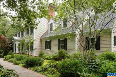 Charlottesville VA Single Family Home For Sale: $1,195,000