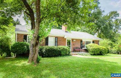 Charlottesville Single Family Home For Sale: 1428 Oxford Rd