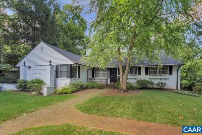 Charlottesville  Single Family Home For Sale: 1864 Wayside Pl