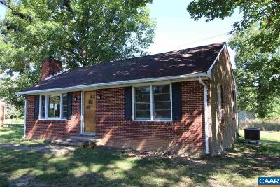 Fluvanna County Single Family Home For Sale: 3814 Zion Rd