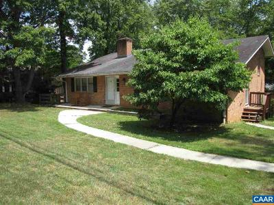 Charlottesville VA Single Family Home For Sale: $319,900