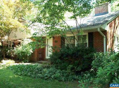 Charlottesville VA Single Family Home For Sale: $450,000