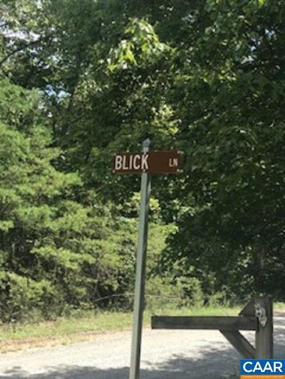 Nelson County Lots & Land For Sale: Blick Ln