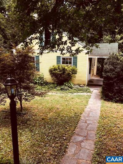 Charlottesville Single Family Home For Sale: 1410 Gentry Ln