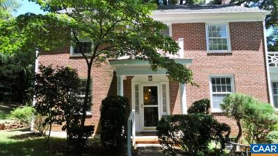 Charlottesville Single Family Home For Sale: 1627 Oxford Rd