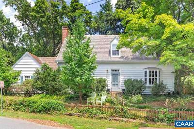 Charlottesville Single Family Home For Sale: 1900 Edgewood Ln