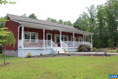 Louisa County Single Family Home For Sale: 2365 Hanback Rd