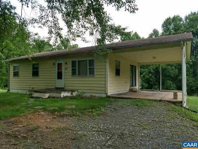 Single Family Home For Sale: 2801 Jacks Shop Rd