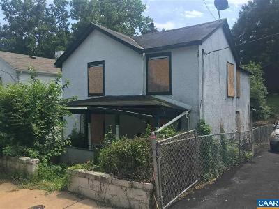 Charlottesville VA Single Family Home For Sale: $124,900