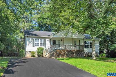 Fluvanna County Single Family Home For Sale: 18 Hatchechubee Rd