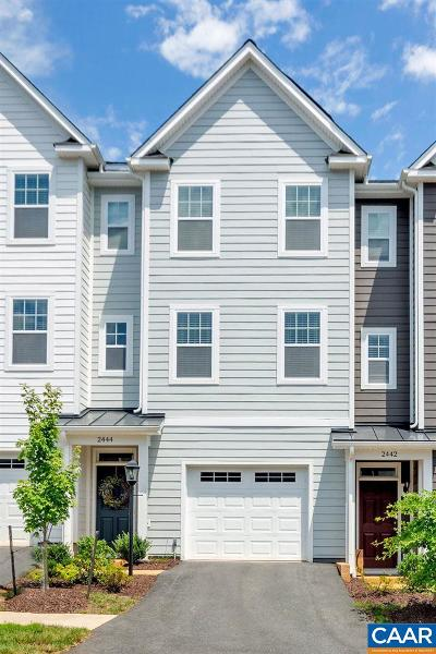 Albemarle County Townhome For Sale: 2444 Winthrop Dr