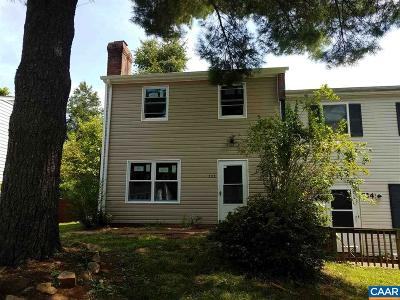Charlottesville Townhome For Sale: 732 Orangedale Ave