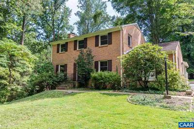 Charlottesville Single Family Home For Sale: 1508 Jamestown Dr