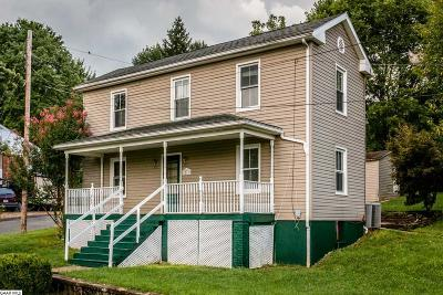 Staunton VA Single Family Home For Sale: $123,000