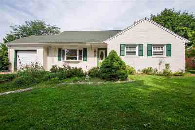Harrisonburg VA Single Family Home For Sale: $219,000