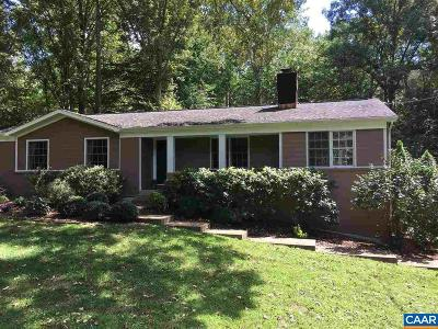 Albemarle County Single Family Home For Sale: 3337 Preddy Creek Rd