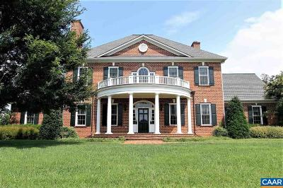 Charlottesville VA Single Family Home For Sale: $1,595,000