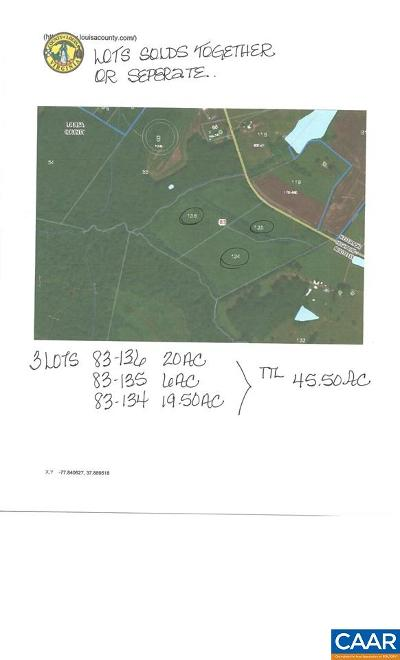 Louisa County Lots & Land For Sale: 0001a Jefferson Hwy