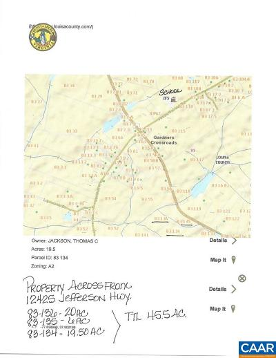 Louisa County Lots & Land For Sale: 0001c Jefferson Hwy