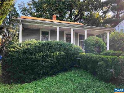 Charlottesville Single Family Home For Sale: 1009 Druid Ave