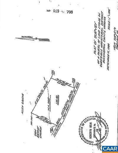 Buckingham County Lots & Land For Sale: SW Trents Mill Rd