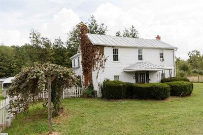 Staunton Single Family Home For Sale: 3768 Old Greenville Rd