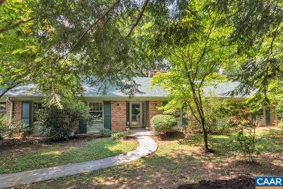 Charlottesville Single Family Home For Sale: 1631 Brandywine Dr