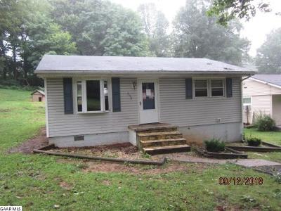 Staunton VA Single Family Home For Sale: $74,900