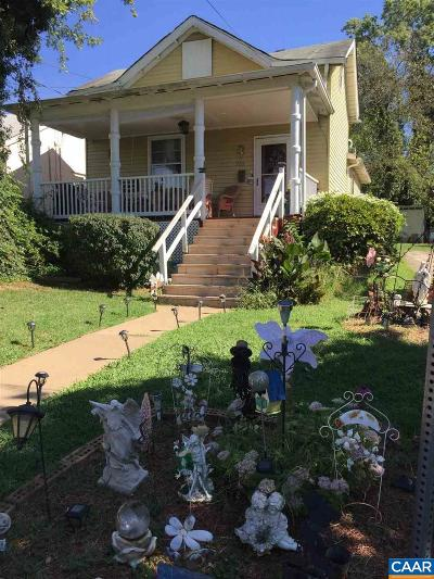 Charlottesville Single Family Home For Sale: 709 Concord Ave