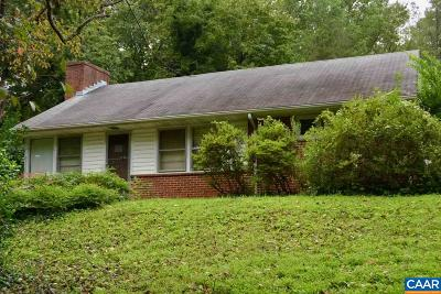 Charlottesville Single Family Home For Sale: 1211 Wellford St